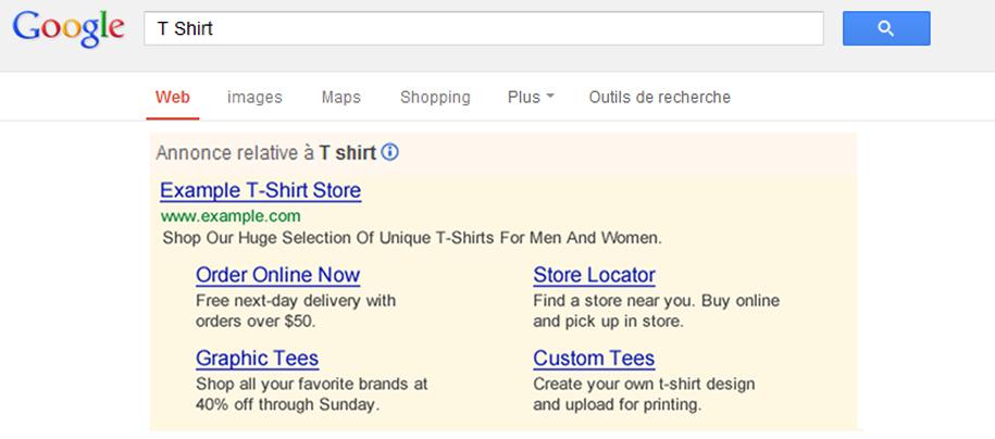 Ad Sitelinks : nouvelles annonces Google