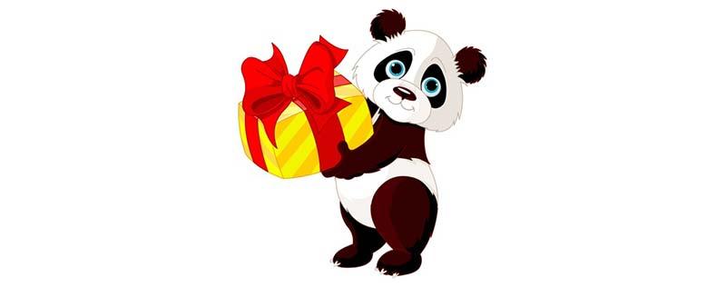Google Panda avec un cadeau