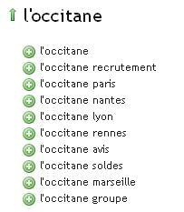 Ubersuggest l'occitane