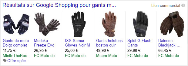 exemple google shopping