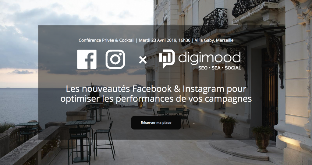 Digitalk #3 : conférence privée Facebook / Instagram & cocktail networking