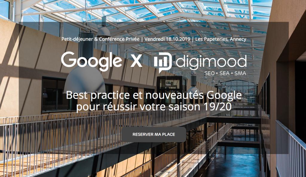 Digitalk #4 : petit-déj & conférence privée Google Ads à Annecy