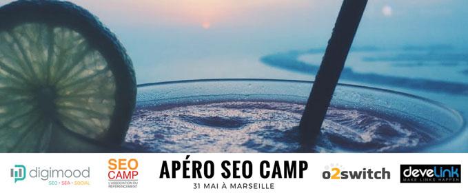L'apéro SEO Camp c'est le 31 mai à Marseille !