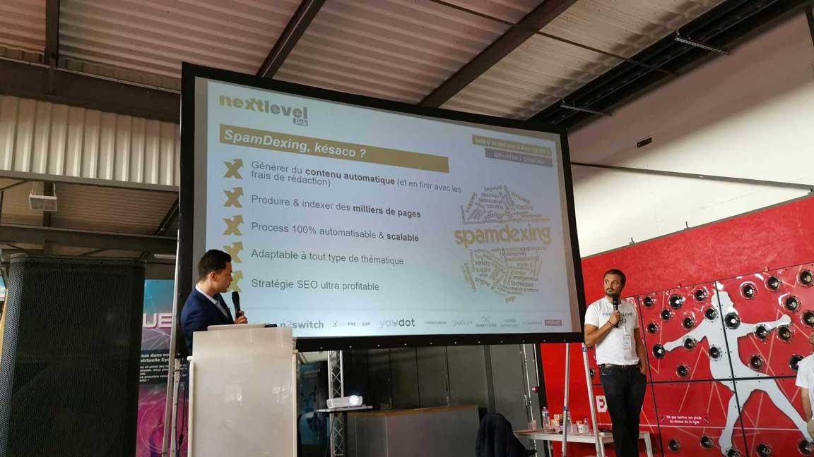 Conférence de David Dragesco et Romain Pirotte à l'événement NextLevel